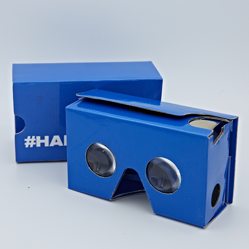 Promotion cheap paper 3D video glasses, OEM google cardboard 3D glasses