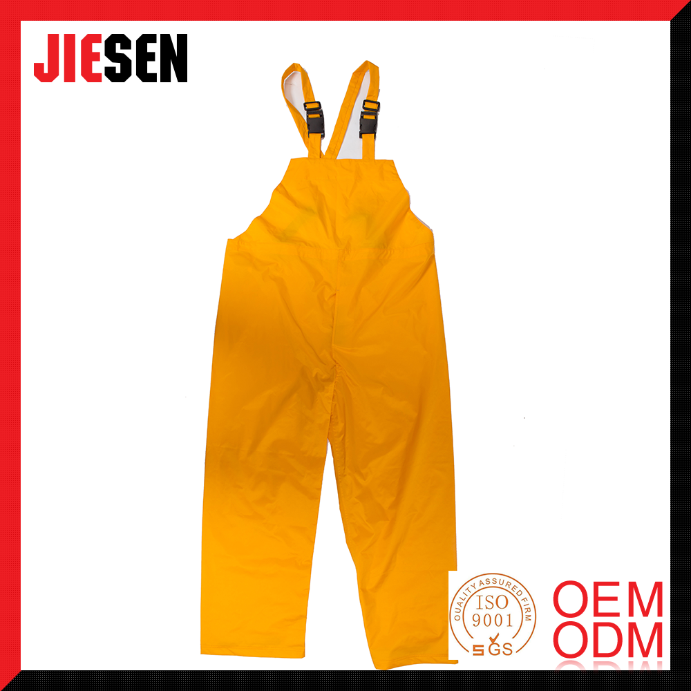 Strong Waterproof Yellow Fishing Rain Bib Pant