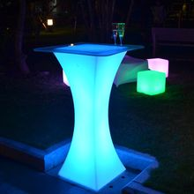 led light manufactuer LED bistro table OEM bar round led cocktail table