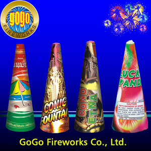 "Beautiful fireworks hot sale 5"" conic fountain fireworks high quality and cheap price stage fountain fireworks"