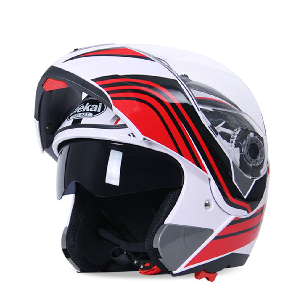 Dual visor DOT ECE Flip Up Motorcycle Helmet For Riders