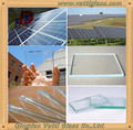 Super White Glass/Super clear glass for Solar glass panel