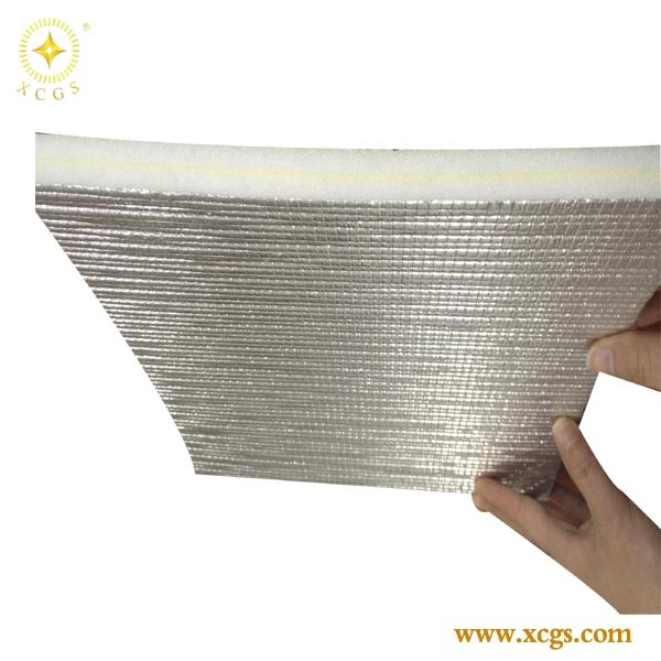 self-adhesive foam insulation/ aluminum foil backed insulation roll / sheet
