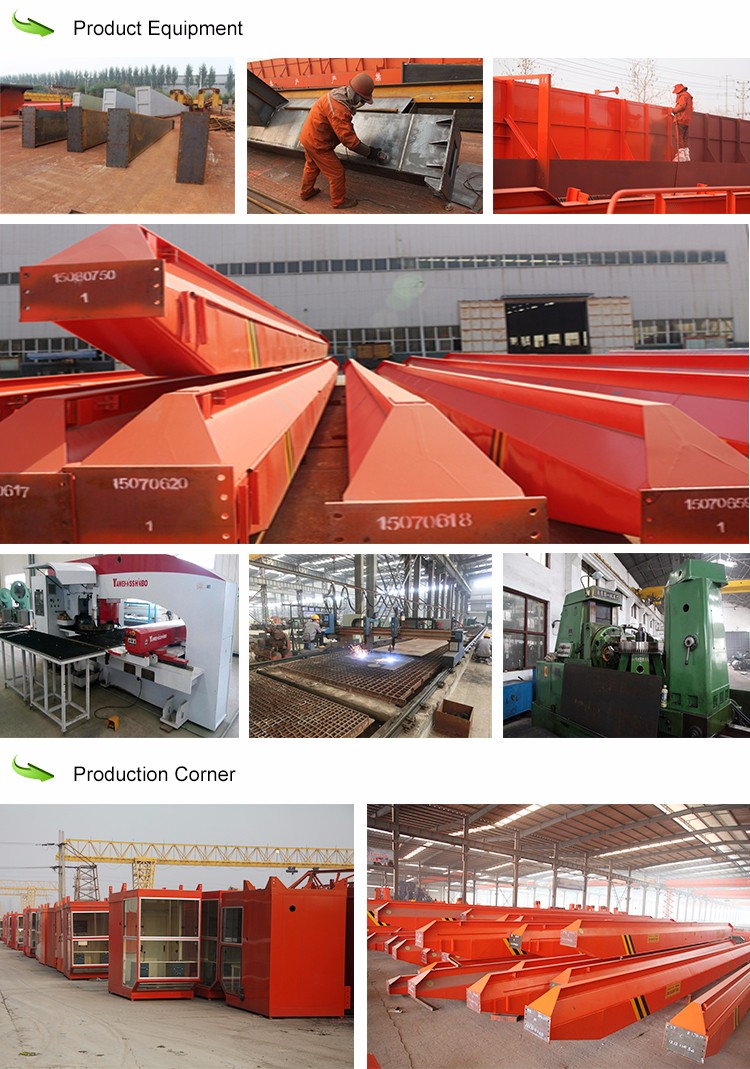 Semi gantry crane with hoist trolley 5t