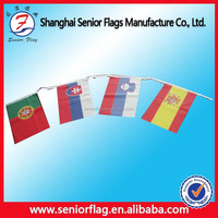 National flag decorate with all kinds of world flags bunting