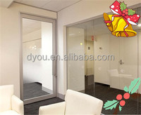 customized tempered glass office entry door from China supplier