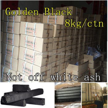 Golden Black bamboo charcoal 8kg for Shisha from china sigma factory