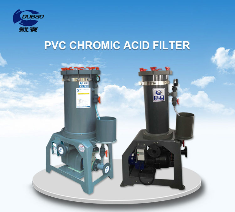 Wholesale engineering plastic chrome acid filter machine for chrome plating