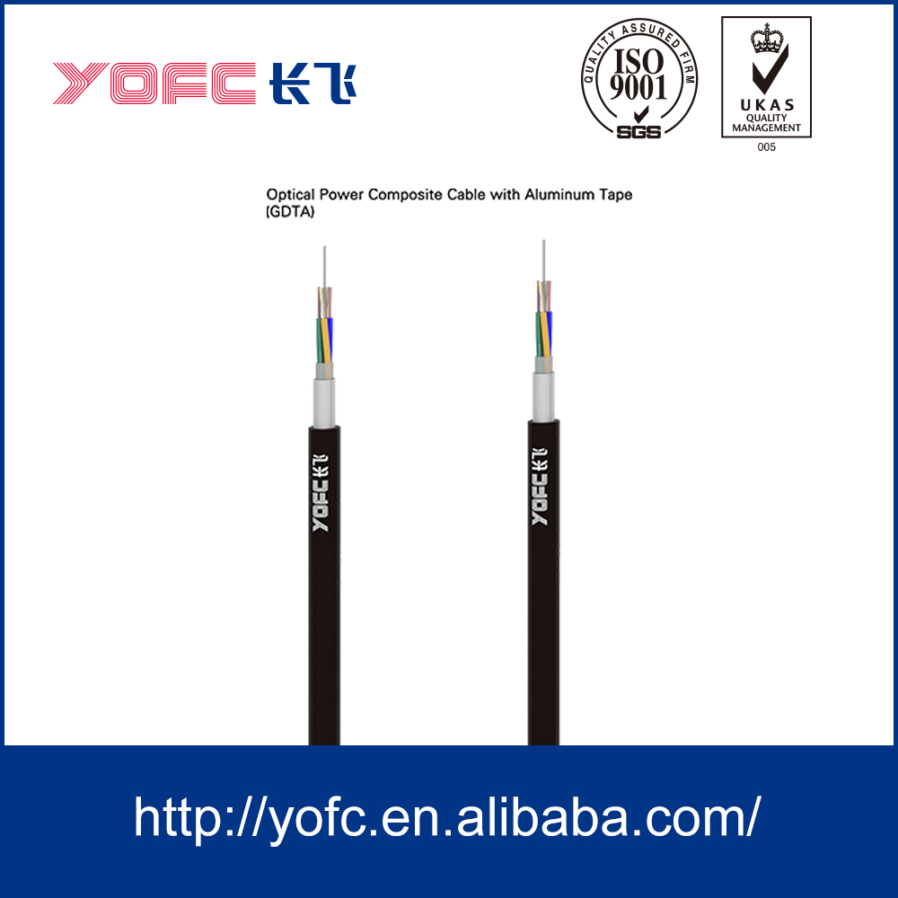 Hybrid fiber optic/electric cable for data transmission GDTA
