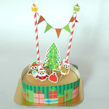 trending hot products funny Christmas cake topper for happy birthday paper cake decoration supplies