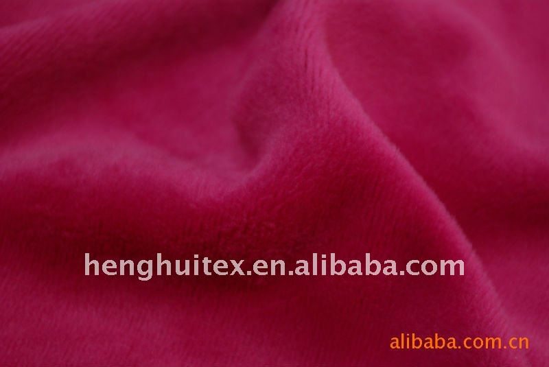 polyester solid Short Velour/plush Fabric for thermal underwear