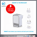 4.5A EU US 3 Ports 4 por USB Charger Portable Mobile Phone Travel Dual usb Wall Charger for All Mobile Phone