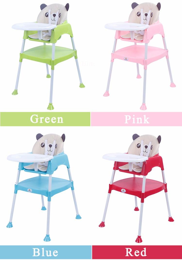 Multi-Fonction Coloré En Plastique Bébé Chaise Haute 3 en 1 Bébé Chaise haute