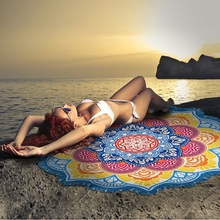 Indian Mandala Tapestry Flower Hike Picnic Blanket Yoga Mat Microfiber Beach Towel