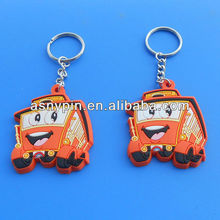 2013 custom gifts rubber soft PVC nice key chain/key ring/key holder