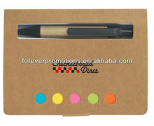 Eco-Friendly Memo Case With Sticky Flags & Pen