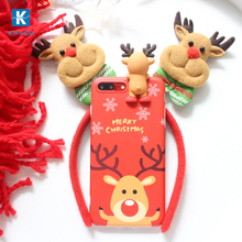 [kayoh]Christmas Gift For iPhone 7 case 3D Plush Doll Phone Case pc Cover for iPhone 7 Plus