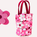 2018 alibaba china suppliers cheaper OEM available eco handmade of flower candy bag tote bag for celebrating