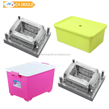 household make up plastic crate mold plastic storage box mould