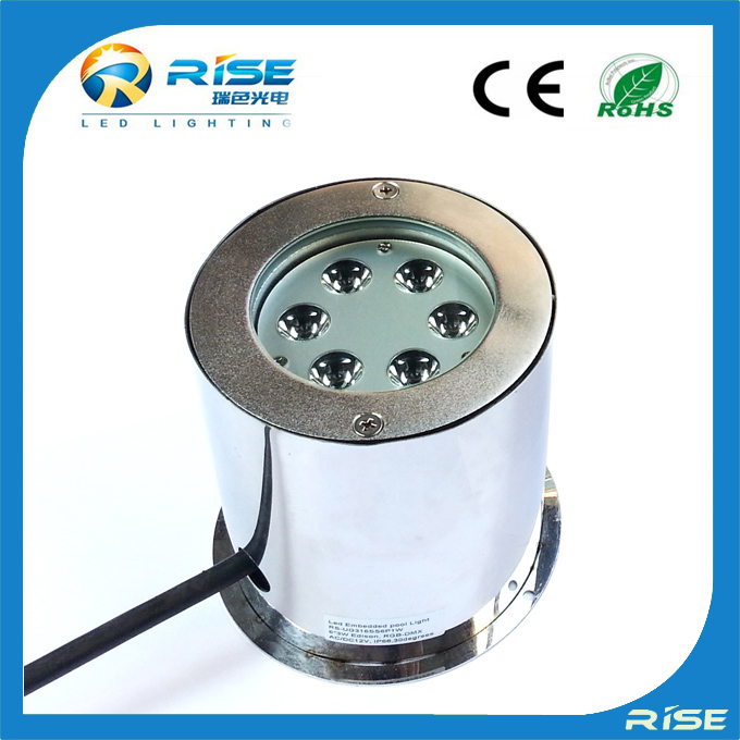 Rise new design led 18w 12v low voltage recessed underwater rechargeable floating LED pool light