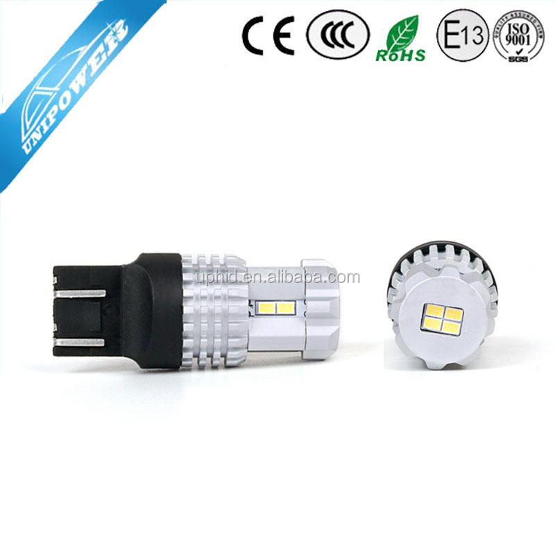 High lumens 750LM car led tail light t20 w21/5w 7443 with 12pieces 3020SMD chip 2 year warranty