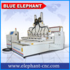 3d Multi head cnc router , multi spindle 4 axis cnc machine for mass process