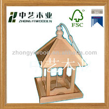 Super quality small wooden bird houses,stand wooden bird house,finch bird house