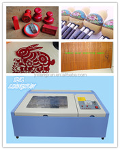 Rabbit LX40B mini stamp,rubber laser cutting and engraving machine