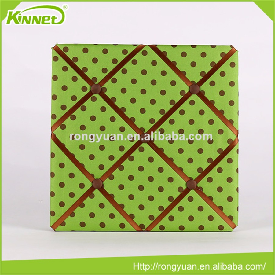 Beautiful decoration fabric ribbon bulletin pin board