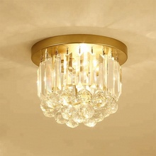 Entrance Hall Hallway Corridor Counter Light Modern Golden Warm white LED Crystal Ceiling Lamp
