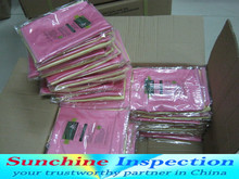 consumer products quality control / wash bags inspection service