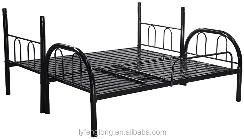 Wholesale double decker metal bed adult bunk beds for hostel