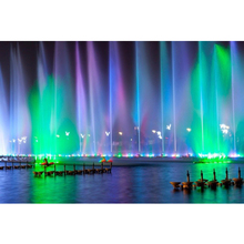 Colorful LED Light Music Dancing Water Fountain in Lake