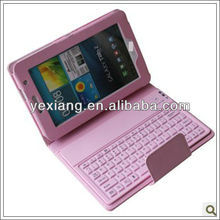 For Samsung Leather stand wireless bluetooth keyboard cover