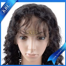 Raw 100% human hair wig 100% modacrylic fiber, realistic hairline lace wig, soft yefine joy wig