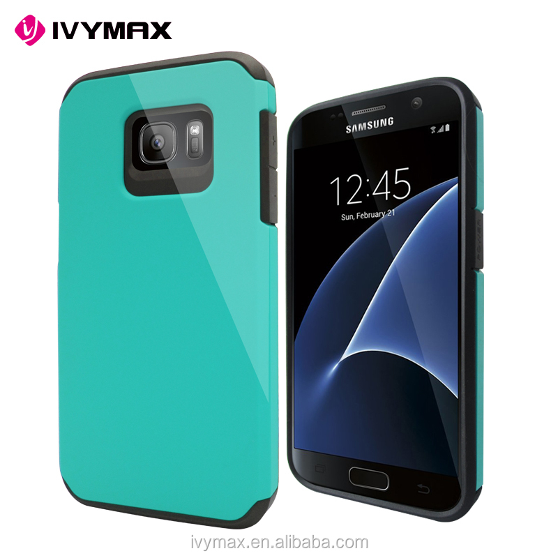IVYMAX BEST SELLER DUAL LAYER PROTECTIVE CASE HYBRID BUMPER FOR SAMSUNG GALAXY S7 CELL PHONE CASE