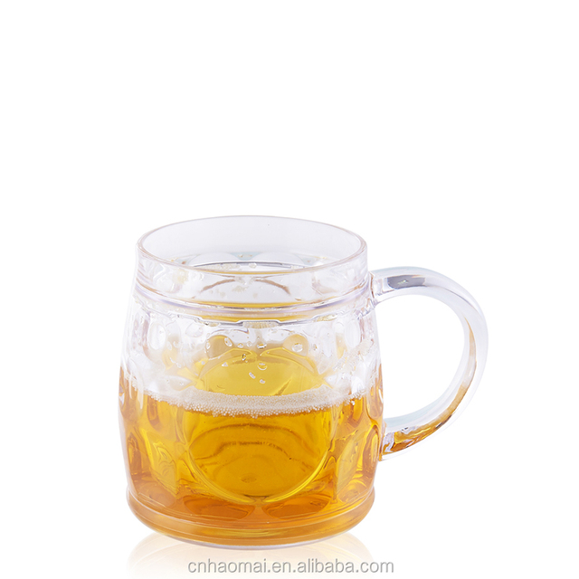 AA-008-2 300ML drinking vessel bar and LFGB FDA SGS certification double wall plastic beer mug with liquor