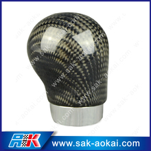 Universal gear manual carbon fiber shift knob leather shifter