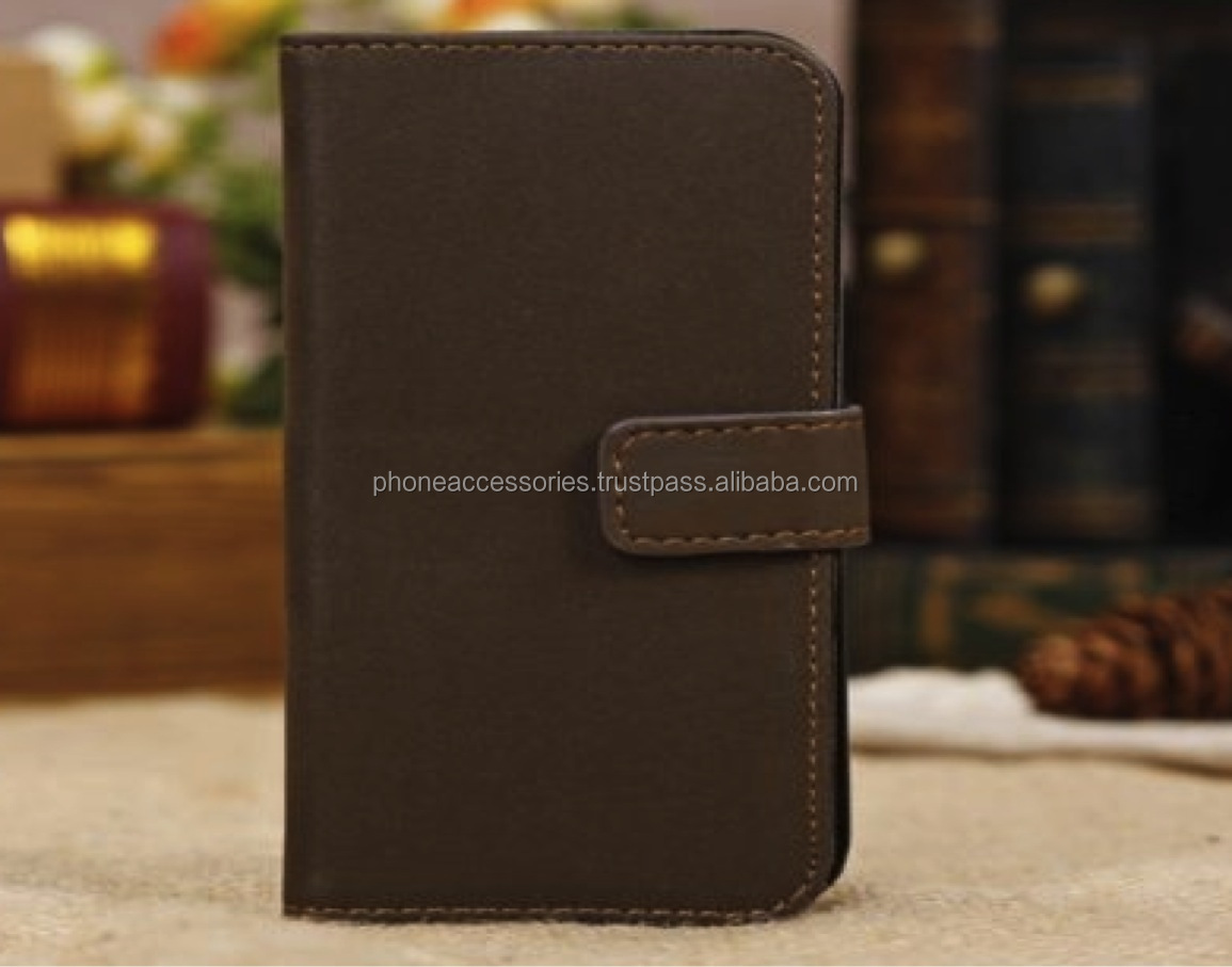 Coffee Leather Phone Cover and Wallet for iPhone 6, iPhone 5 and iPhone 4 and for Samsung S5 and Note 3