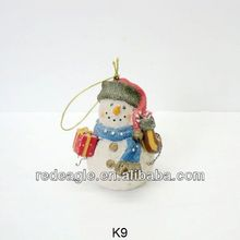 K9 holiday time christmas decorations For Tree with snowmen