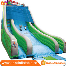 PVC tarpaulin material and Slide Type Happy Hop Inflatable swimming pool water slide bouncer