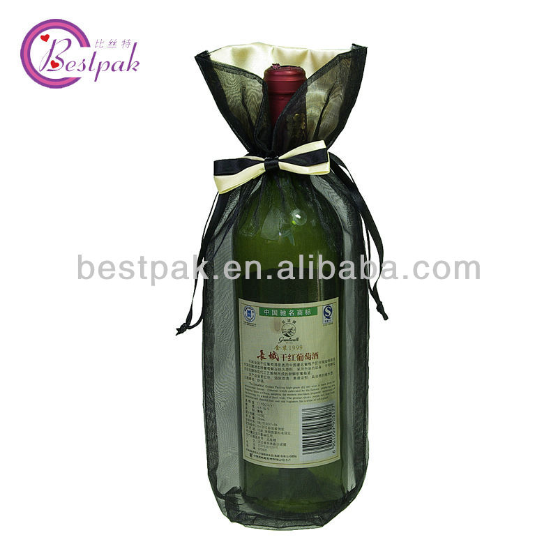 decorative promotional wine goodies gift bag