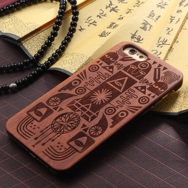 Latest product custom design for iphone 6 wooden cell phone case for wholesale