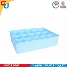 multifunctional plastic compartment storage box for putting underware,adjustable plastic utility storage box