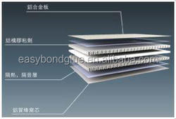 bond metal to aliminum honeycomb core glue