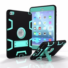 Rugged Hybrid Case Three Layer Armor Case for iPad Mini 4 With Kickstand for Rugged Tablet