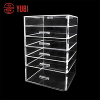 Popular manufacture acrylic desk makeup organizer with tray