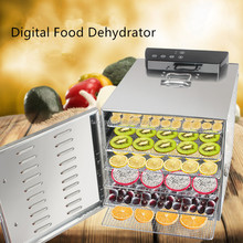 Stainless Steel 6 Trays Food Dehydrator 220V Home Mini Fruit Dehydrator Fruit Dryer