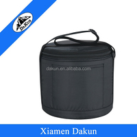 210D Polyester round can cooler bag with zipper closed DK14-2462/Dakun