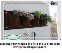 Brown Vertical Garden Pocket Planters,Vertical Garden Grow Bags,Hanging Plant Bags